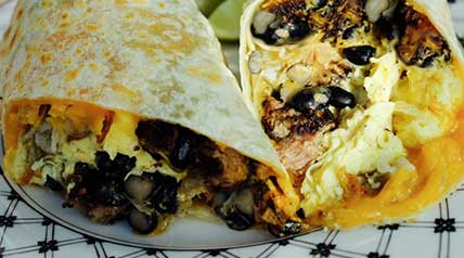 It's easy to start your morning off right - cook up this venison sausage breakfast burrito recipe in just four easy steps!