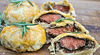 If you're looking for a special venison tenderloin recipe, give these mini wellingtons from Lee & Tiffany Lakosky a try.