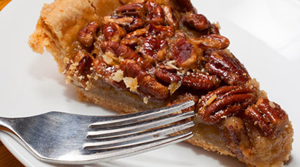 A homemade pie crust recipe made with walnuts and cinnamon – perfect for pecan pie.