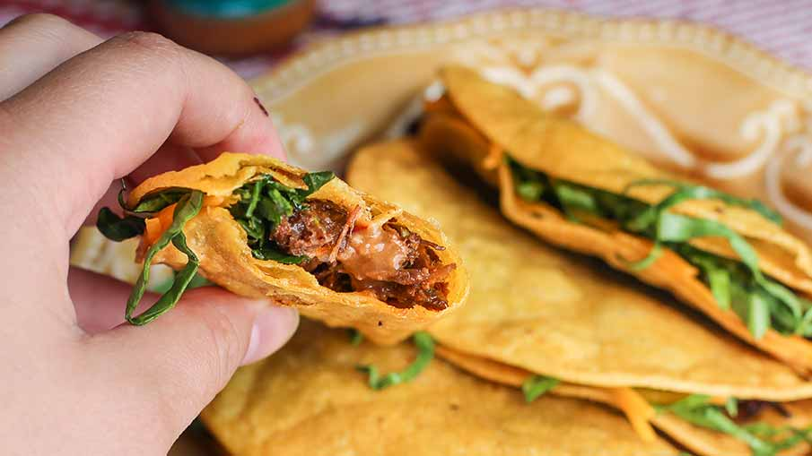 Wild Turkey Leg Chipotle Fried Tacos Recipe