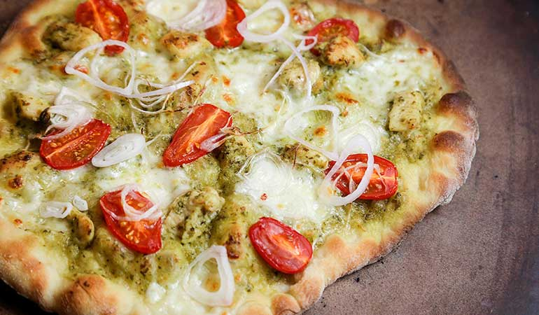 Wild Turkey and Pesto Pizza Recipe
