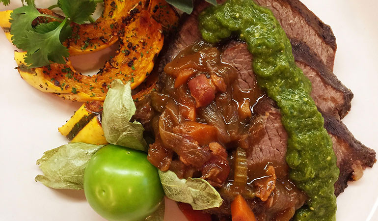 Braised Elk Venison Shoulder With Salsa Verde Recipe