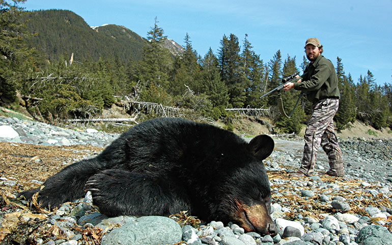 David Draper with Alaska black bear