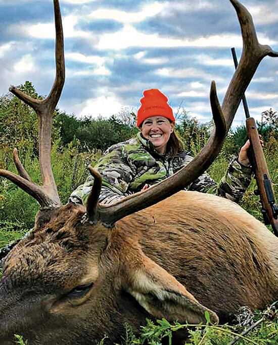 Denise Potter with Tennessee elk