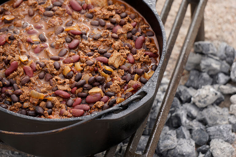 dutch oven elk venison chili recipe