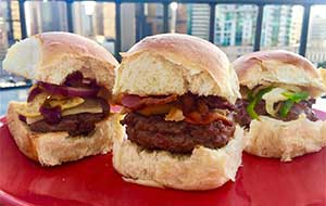 A cream cheese jalapeño slider, a peanut butter bacon slider and a BBQ Fritos slider walk into a bar – the punch line is three delicious venison mini-burger recipes.