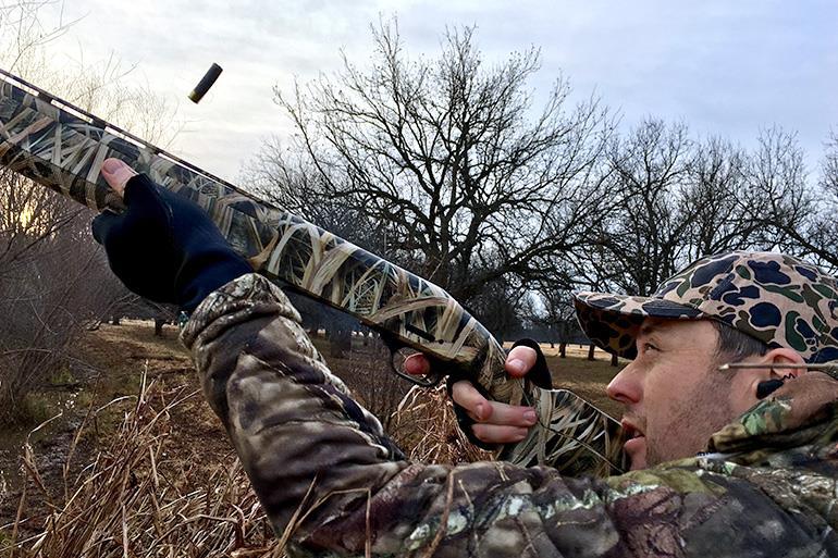 Late-season waterfowl hunting in pecan bottom