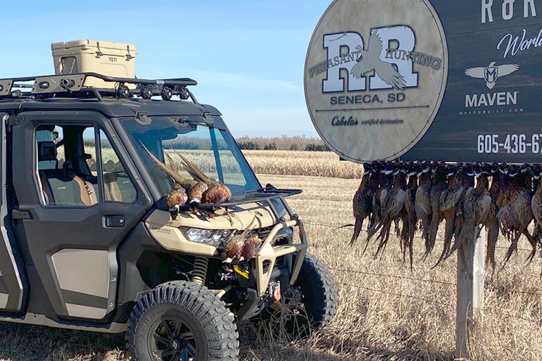 Can-Am Defender Max Pheasant Hunting at R&R (Photo 2)