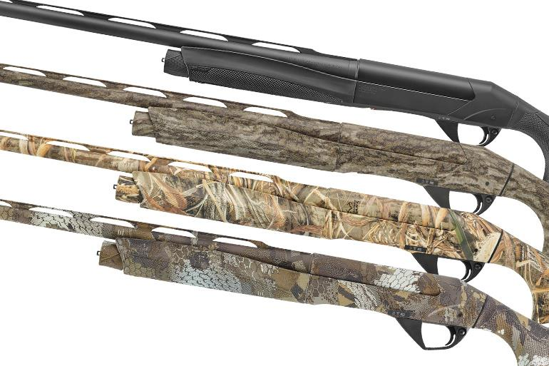 Benelli offers the latest iterations in a variety of 3-inch 12 gauges along with 3-inch 20-gauge shotguns that are a little lighter but just as effective and enjoyable to shoot.
