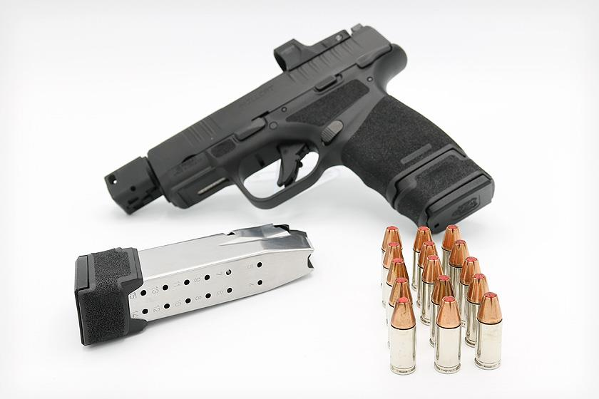 Springfield Armory has taken its Hellcat pistol — a small, high-capacity micro-compact 9mm handgun — and increased its ammo capacity with the new 15-round magazine.