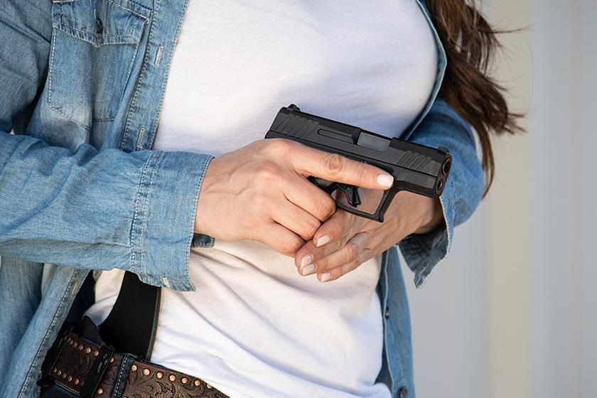 Taurus GX4 Micro-Compact 9mm Pistol Drawn