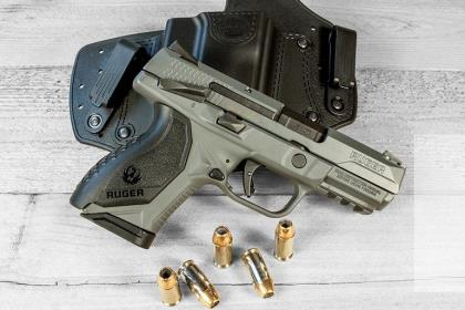 The Ruger American Compact Cerakote Gray in .45 is a solid all-around gun with plenty of punch.