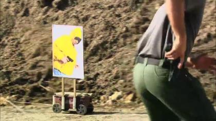 George Wehby is at I4 Tactical to demonstrate ways to move off the 'X', and how to shoot while moving.