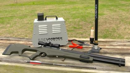 The big brother to the AirJavelin, the Umarex AirSaber uses high-pressure air to zip a 350-grain arrow at velocities up to 480 feet per second. That's more than enough to hunt big game or predators and it's accurate out to 70 yards. So, if you're looking for a tool to have fun with and/or hunt with, check out the Umarex AirSaber.
