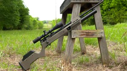 This .25 Caliber precision air rifle can be used for anything from small game & coyote hunting, to target shooting and competitions. Using a regulated 2100 PSI system for improved shot-to-shot consistency, it's extremely accurate and easy to handle. If you're a shooter that's looking for a strong performer on the range or in the woods, check out the Umarex Gauntlet 2.
