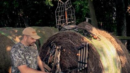 Clint McCoy started deer hunting in the days where all stands were custom built with hammer and nail. But now with the help of advanced new tree stand systems, Clint wants to teach folks the importance of making yourself as mobile as possible. In this video you'll learn about a few of Clint's favorite mobile tree stand setups for the quick hang-and-hunt tactic. Clint then proves to us the power of these tactics with the success of a giant 10-pointer!