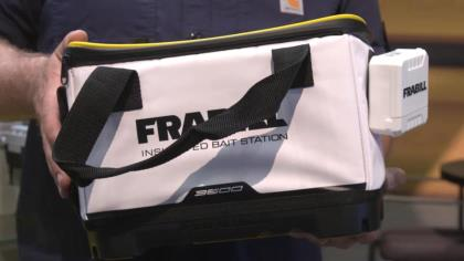 In-Fisherman's Thomas Allen check out what's new from Frabill, including the battery-powered VYPR ice-fishing tip-up, which takes innovation to a new level With Frabill's Chris Russell at ICAST 2021 in Orlando.