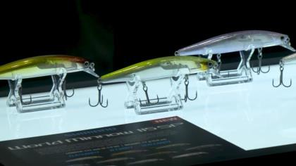 Bass pro Alex Davis explains Flash Boost, Jet Boost and Scale Boost, featured in World Minnow and World Diver jerkbaits. With Game & Fish's Adam Heggenstaller at ICAST 2021 in Orlando.