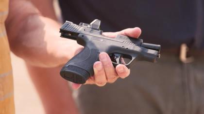"""Smith & Wesson has expanded their M&P Shield Plus pistol line to include a 3.1-inch optics-ready slide option. Scott Rupp, editor of Handguns, is with Matt Spafford, of Smith & Wesson, to check out this """"sweet spot"""" optics-ready concealed-carry pistol."""