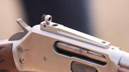 Kevin Steele is with Andy Larsson of Skinner Sights, focusing on their handcrafted sights for lever action rifles.