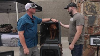 Talking with Lucky Duck about the Intermediate Lucky Duck Dog Kennel.