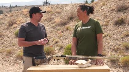 Editor-in-Chief Skip Knowles is with Beth Shimanski from Savage Arms to get a look at this reliable, soft kicking shotgun.
