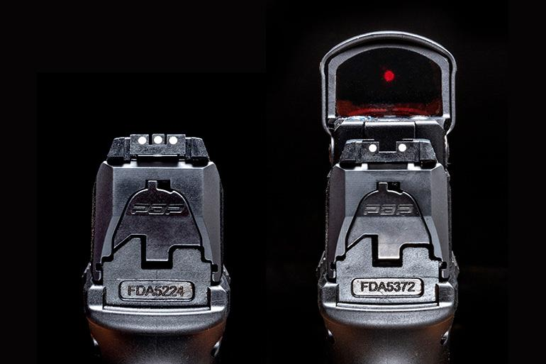 Walther PDP 9mm Pistol standard three­dot sight system