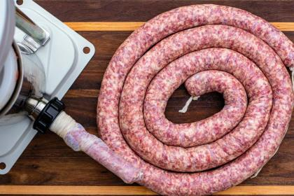 From mixing to grinding to stuffing, here's everything you need to know to produce your own venison bratwurst.