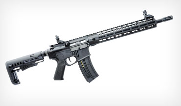 The new Hammerli TAC R1 22 C, an AR-15 style .22 rimfire rifle, is the first product in the company's new Defense line.