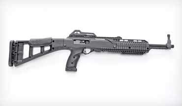 The Hi-Point 10mm carbine, technically the 1095 TS, sports a 17.5-inch barrel, is 32 inches long and weighs seven pounds empty.