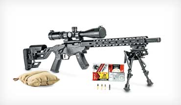 The Ruger Precision Rimfire bolt-action, a Mini-Me version of its popular centerfire Precision Rifle, features many of the same traits that made its big brother a hit but in a compact, flyweight form.