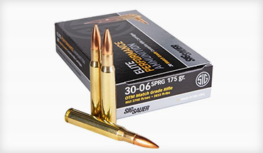 SIG SAUER adds to its Elite Match ammo line with the 30-06 Springfield.