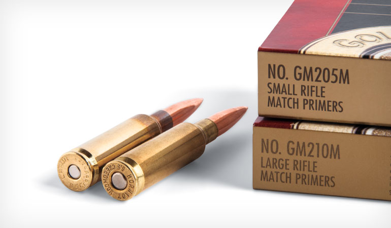 A close look at using small rifle primers rather than large rifle primers in reloading cartridge cases where both are offered; testing shows size matters little, with a few exceptions