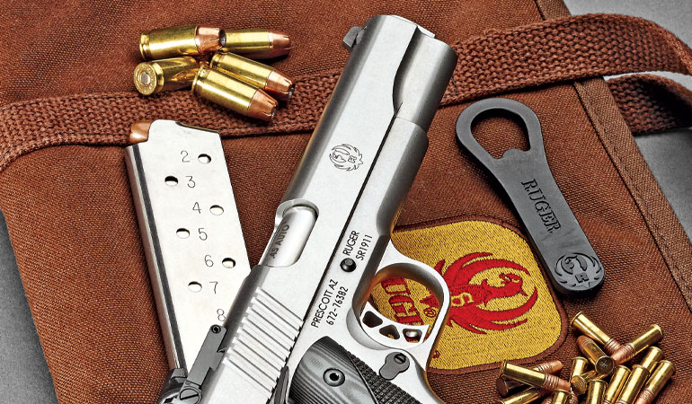 The Ruger SR1911 Target pistol in .45 ACP with a Marvel Custom .22 Rimfire conversion kit makes for an accurate, 100-percent-reliable combination.