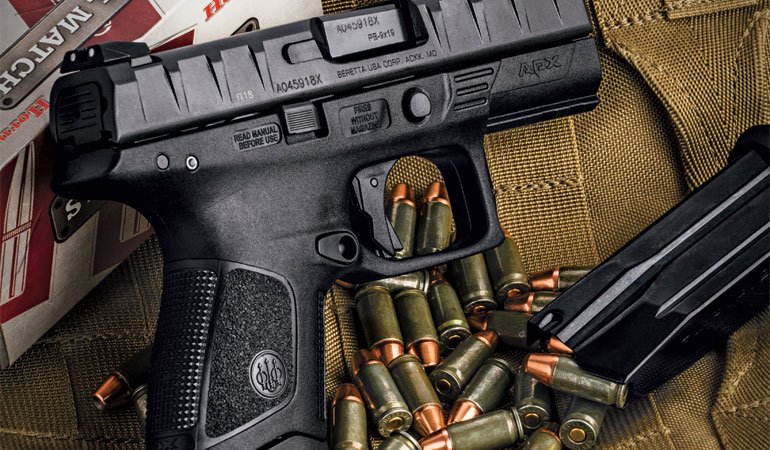 The small double-stack 9mm Beretta APX Compact is comfortable to shoot, accurate, and reliable.