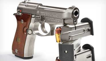 Some well-known handguns, like the Colt Single Action Army, the Model 1911, and the Browning Hi-Power, are classics. The author sees the lesser-known Beretta Cheetah as one, too.