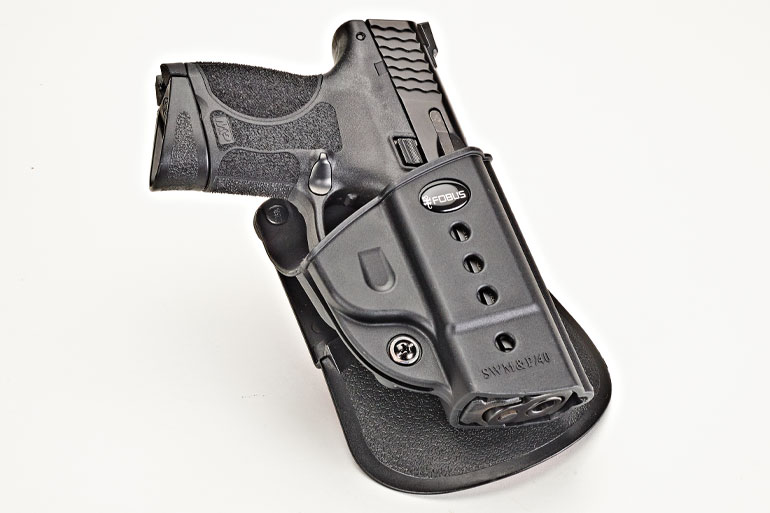 The Fobus Evolution Holster fits a plethora of handgun models and makes, plus it is comfortable, lightweight and durable.