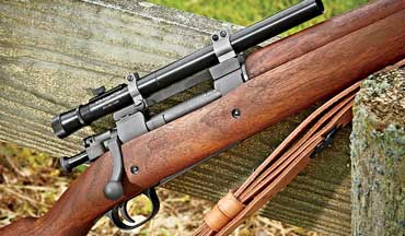 The Springfield M1903A4 was the first sniper rifle issued en masse to the United States armed forces.