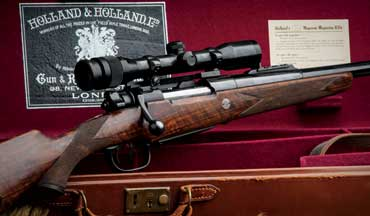 This fine .375 H&H Magnum showcases the perfection of early bolt-action dangerous-game rifles.
