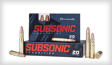 A unique load for the .450 Bushmaster is Hornady's new Subsonic offering. It's loaded with the company's 395-grain Sub-X (Subsonic–eXpanding) bullet that is designed to expand and penetrate but not break up.