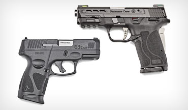 The Smith & Wesson Performance Center M&P9 Shield EZ and the Taurus G3c are vastly different, but each is a great choice for a personal carry gun.