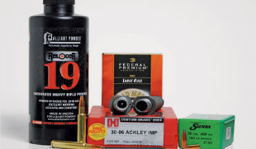By cleverly increasing the parent cartridge's powder capacity, the .30-06 Ackley Improved wildcat provides higher velocities.