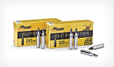 The new SIG Sauer Elite Hunter Tipped ammo utilizes premium nickel-plated cases, custom-formulated propellant and premium-quality primers.