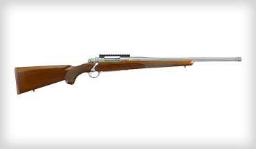 The .30-06 Hawkeye Hunter features a 22-inch stainless-steel barrel and a satin-finished walnut stock. Magazine capacity is four rounds. It is well made, accurate, and attractive. This is a fine rifle that is light enough to tote over hill and dale but heavy enough to hold steady for precise shooting in the field.