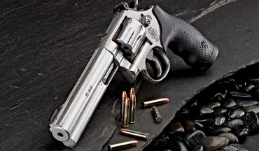Smith & Wesson's reintroduced eight-shot medium-frame Model 648 double-action revolver is a perfect platform for the .22 Magnum rimfire cartridge.