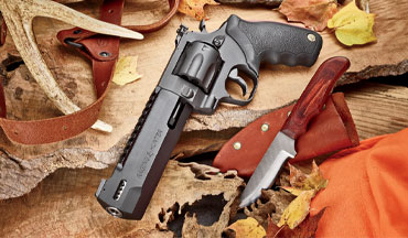 We like the name of the new Taurus handgun-hunting revolver. It's called the Raging Hunter. We like the way the revolver handles and shoots, too.