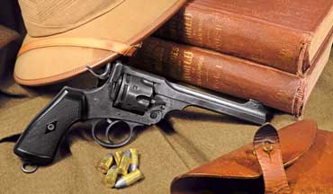 The iconic British Webley Double-Action revolver was the official British military sidearm for more than seven decades.