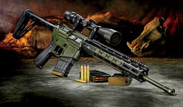 The Wilson Combat Ranch Rifle in .300 HAM'R, a round developed by Bill Wilson himself, is just right for hog hunting.