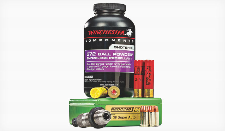 38 Super and 9mm Load Data for Winchester 572 Ball Powder