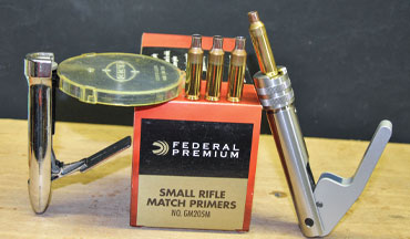 Part 1 of this series discussed precision-built rifles, and Part 2 looked at the preparation of cartridge cases. Now it's time to fill those cases with primers, powder, and bullets.